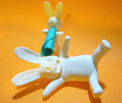 メガホン子ウサギ