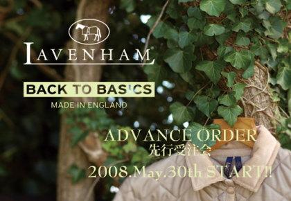 LAVENHAM(ラベンハム)の08AW/LAVENHAM先行予約会。