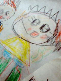 コッコさんとシロップ(プリキュアの)の絵だそうで。恋してるようです・・。