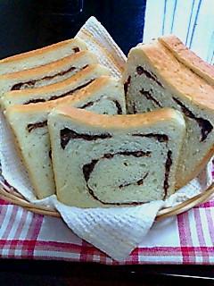 小豆巻き食パン