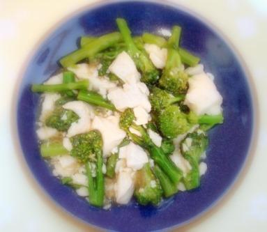 ブロッコリー豆腐のうま煮
