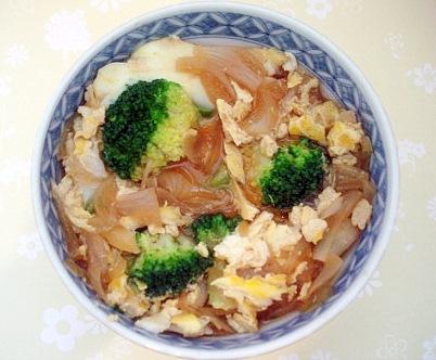 ブロッコリー卵とじ丼