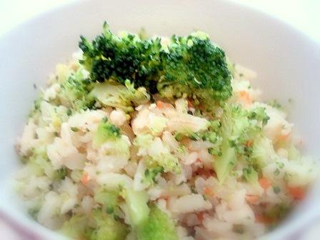 ブロッコリーご飯4