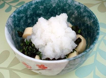 広東菜卵豆腐