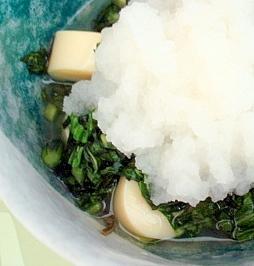 広東菜卵豆腐3