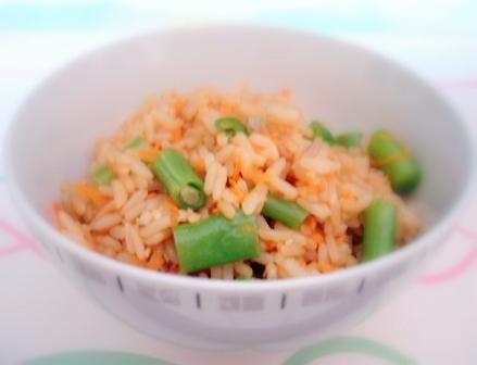 インゲンご飯2
