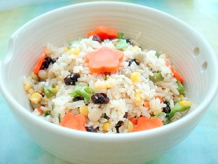 四角豆カラフル玄米2