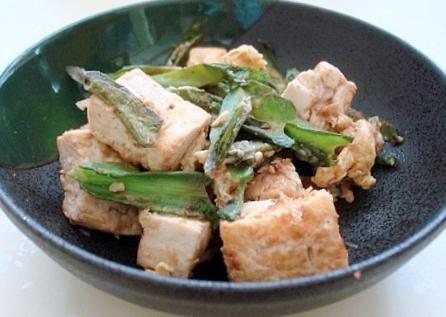 四角豆豆腐炒め3