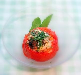 ハーブトマトカップご飯