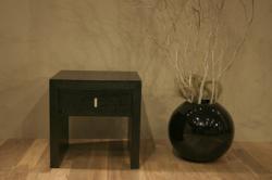 MASSOT ナイトテーブル ブラック