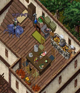 憩いの場の台所兼食事場