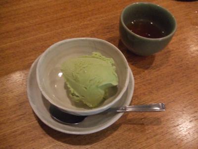 串揚げ 六角亭 抹茶アイス