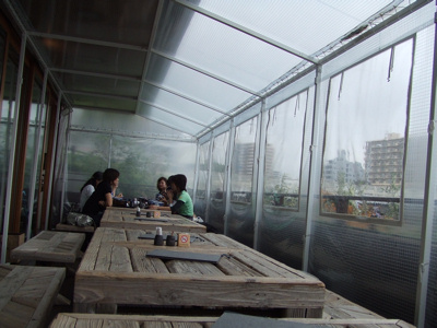 江ノ島の和食屋さん『小屋』(コヤ)  テラス席