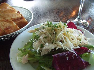 BISTRO KHAMSA(ビストロハムサ 店内 前菜のサラダ