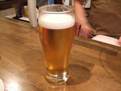 小野田商店 ビールで乾杯