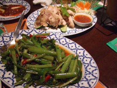 チャオタイ渋谷道玄坂店 クーシン菜と蒸し鶏