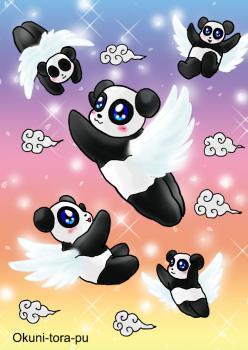 パンダちゃん天使に~。