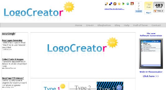 Logo CreatorのSS
