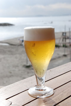 一休みのビール