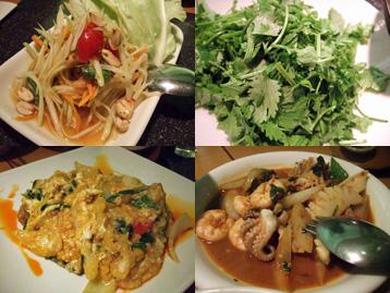 タイ料理の数々