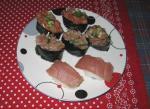 Sushi gunkan plate