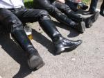 R Revival Leather Pants and Boots