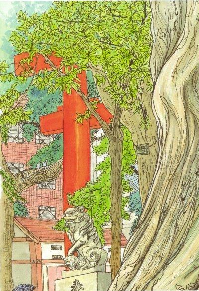 花園神社(一部分)