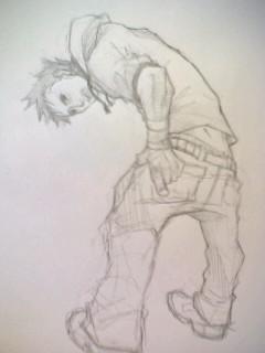 こんな姿勢は初めて描いた....