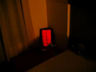 赤い照明はイイな