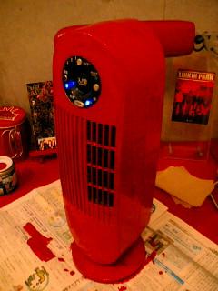 タワーファンが真っ赤だ