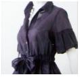LOUNIE'08夏ウェストリボン付きシャツ紺(CLASSY.5月号1番人気)