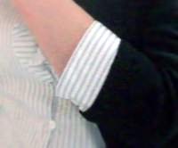 LOUNIE'08夏ストライプフリル襟ブラウス_袖ちょこ