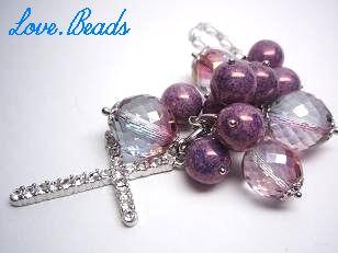 バッグチャーム紫