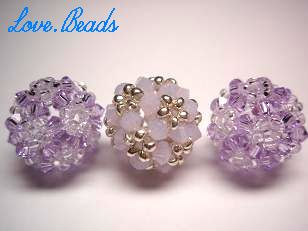 ビーズボール紫