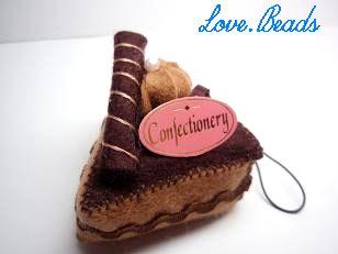 フェルトチョコケーキ