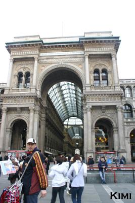 ミラノのドゥオーモ広場