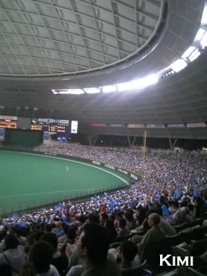 野球行きました