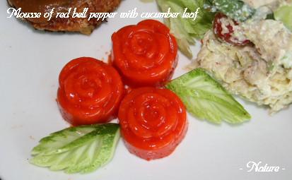 赤パプリカのムース2