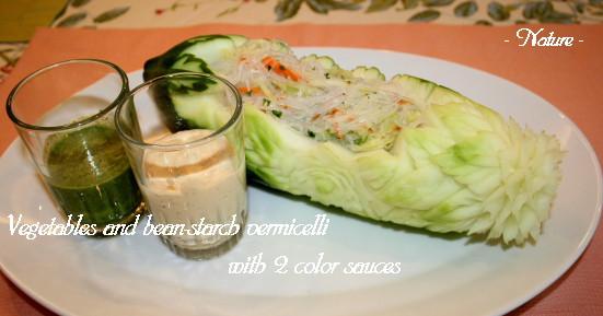 春雨サラダ2色のソースで