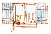 うさぎ 窓