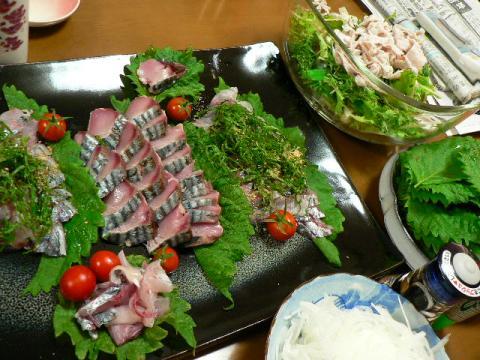 2008年8月7日夕食