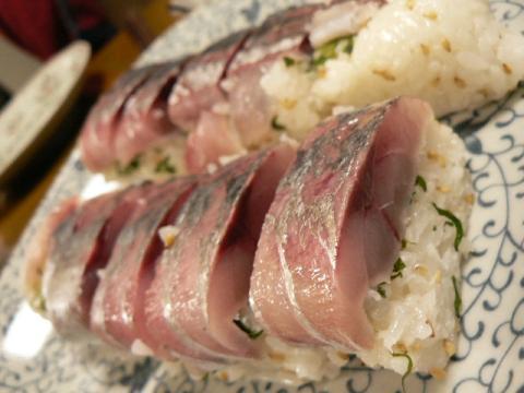 2008年3月17日夕食 鯵寿司