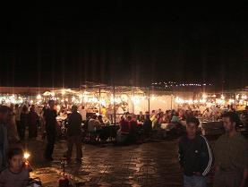 フナ広場の屋台