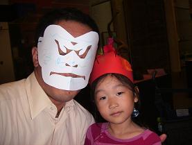 ミュージアムで作ったマスクと帽子