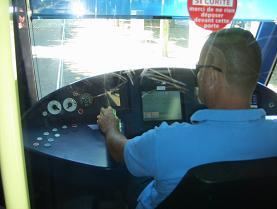 トラムの運転席