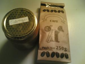 コーヒー豆とオレンジマーマレード