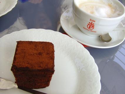 チョコケーキ&カフェラテ