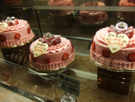 店内母の日ケーキ