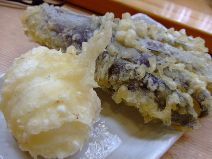 卵の天ぷら&なす