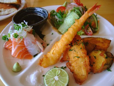 海老ととり肉と野菜